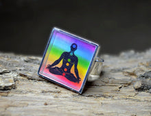 YOGA Ring adjustable Om Jewelry, Colorful Ring Yoga Rings 7Chakras Resin Rings Chakra Jewelry