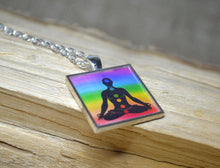 YOGA Pendant, Yoga Gifts, 7 chakras, Chakra Jewelry, Resin Jewelry, Rainbow Colors