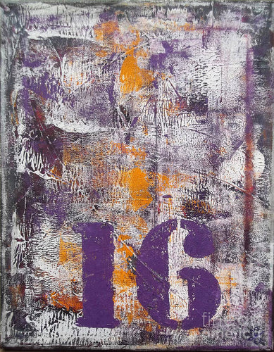 LUCKY NUMBER 16 - Art Print #1061