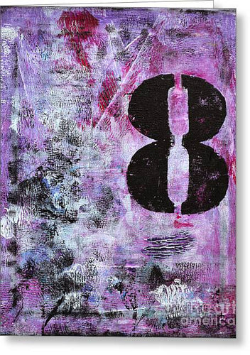 LUCKY NUMBER 8 - Greeting Card #1058
