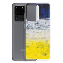Samsung PHONE CASE Edgy Blue Yellow White Abstract