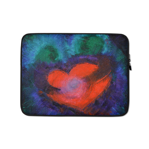 Red Heart Love LAPTOP SLEEVE Cover Artsy Colorful