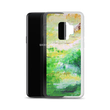 PHONE CASE for Galaxy for Artsy People - Bright Green Abstract
