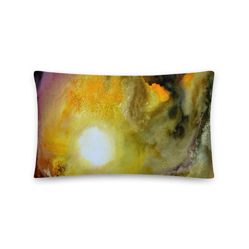 Multicolored THROW PILLOW Watercolor Art Abstract