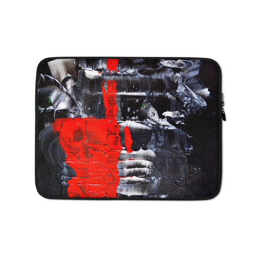 Red Black and White LAPTOP SLEEVE Pouch Cover Abstract Artsy Style