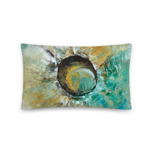 Unique Artsy THROW PILLOW Earthy Neutral Turquoise