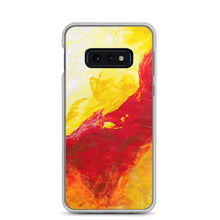 Galaxy PHONE CASE Yellow Red Abstract Design