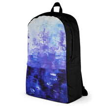 BACKPACK blue abstract Travel School Bag