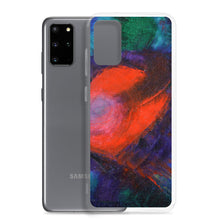 Red Heart Samsung Galaxy PHONE CASE Art Blue Red