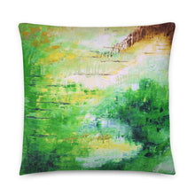 Green Accent THROW PILLOW Modern Abstract