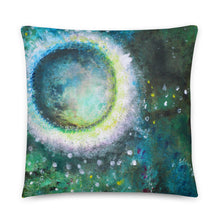 Crystal Moon Artsy THROW PILLOW green