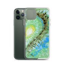 Artsy Heart PHONE CASE for Apple iPhones Green Abstract Art