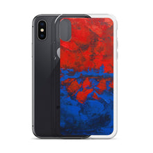 Blue Red IPHONE CASE Cover Artsy Abstract Design
