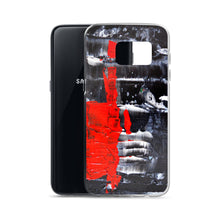Cool PHONE CASE for Galaxy Phones in Red Black Abstract Style