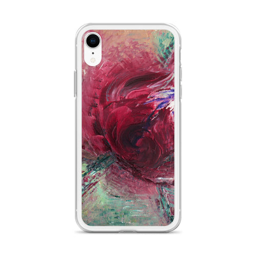 Abstract Rose Modern Art IPHONE CASE printed from Original Art