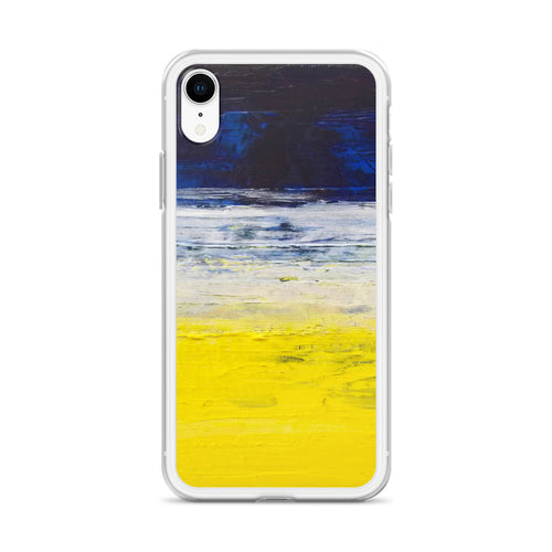 Blue Yellow IPHONE CASE Apple Modern Art Design
