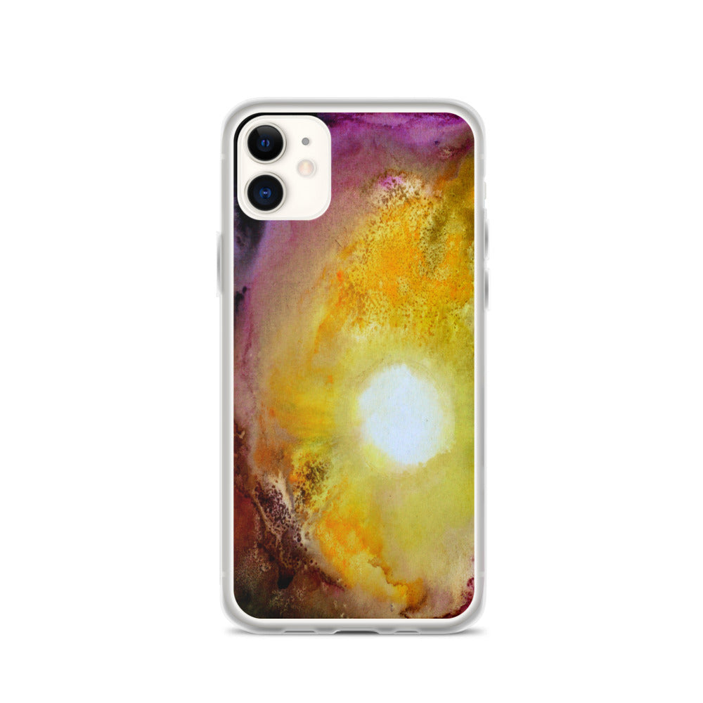 Colorful PHONE CASE for iPhones Artsy Sun Abstract Watercolor Design