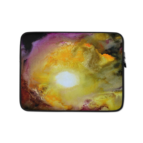 Colorful Sun LAPTOP SLEEVE Pouch Watercolor Art Design