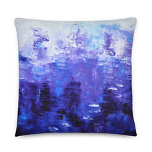 THROW PILLOW - Blue White Abstract