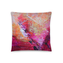 Love Heart THROW PILLOW Abstract Pink Orange