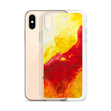 IPHONE CASE Yellow Red Abstract Art for Apple Phones