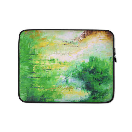 Green Abstract LAPTOP SLEEVE Cover Colorful Cover
