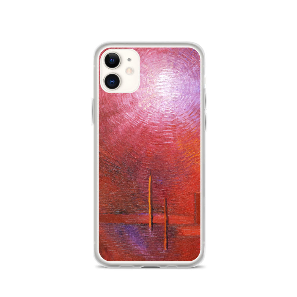 Red PHONE CASE for Apple iPhone Abstract Art Style