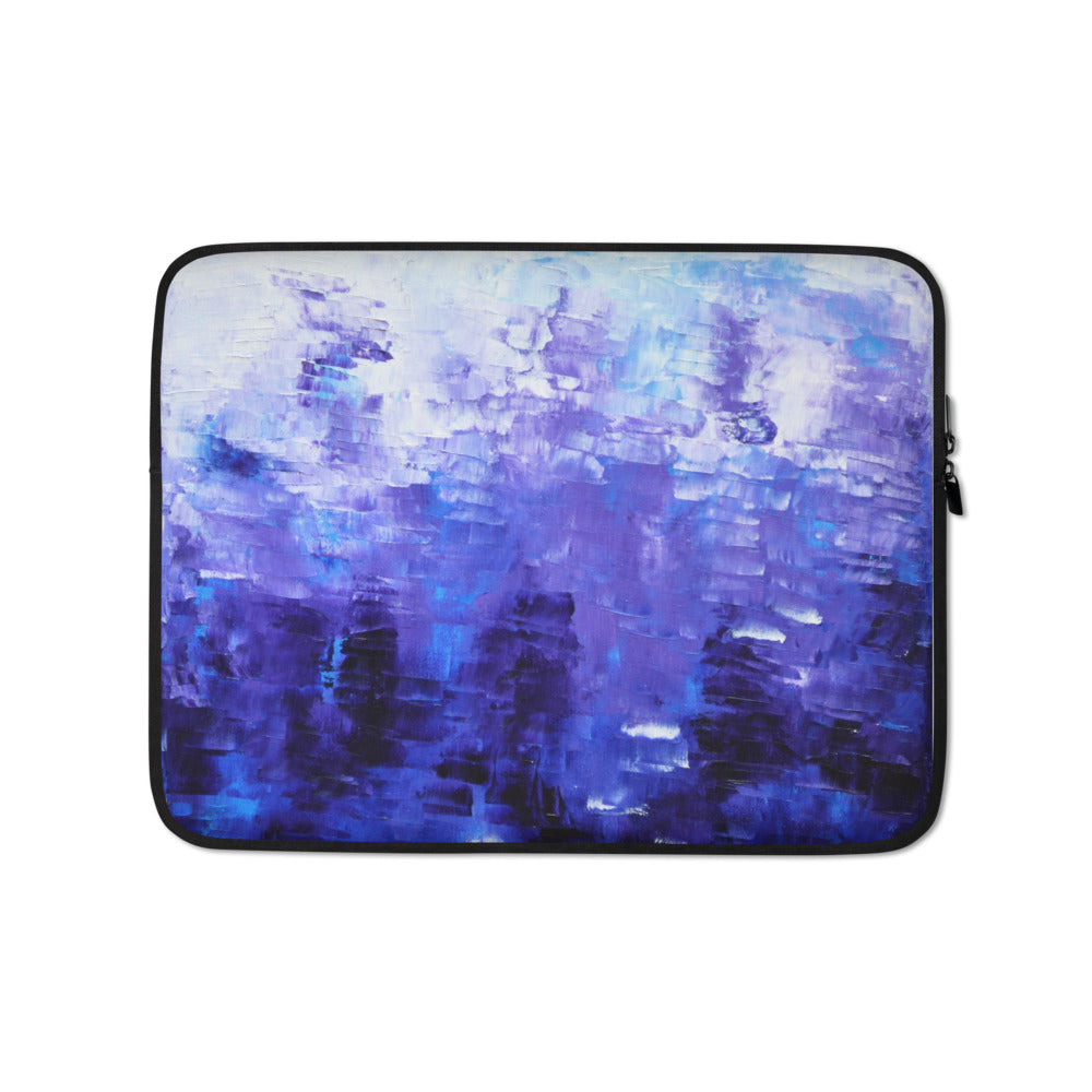 Blue Abstract LAPTOP SLEEVE Pouch Cool Artsy Style