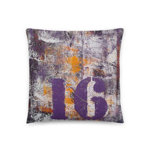 Number 16 THROW PILLOW Urban Grunge Style
