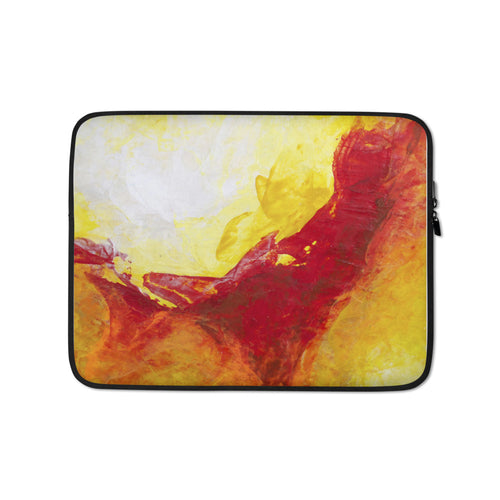 Red Yellow LAPTOP SLEEVE Pouch Cover Colorful Abstract
