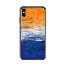 IPHONE CASE Blue Orange Contemporary Art for Apple