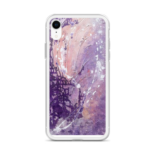 Purple PHONE CASE for iPhone Abstract Artsy Style