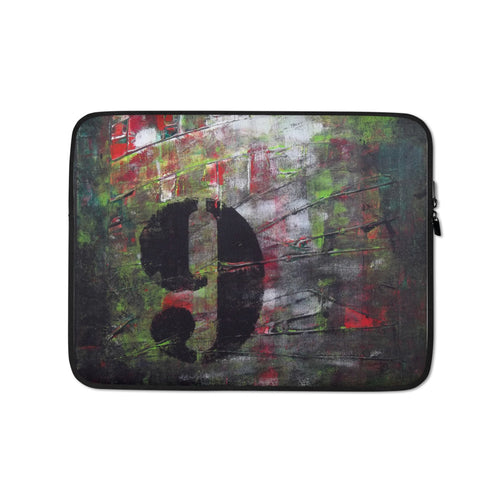 Number 9 LAPTOP SLEEVE Cover for Laptops edgy abstract