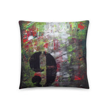 Grunge THROW PILLOW Number 9 Abstract Style