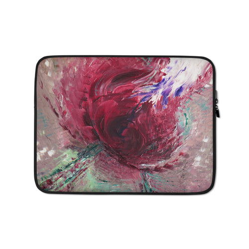 Red Rose Abstract LAPTOP Pouch SLEEVE from Abstract Painting