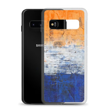 Edgy PHONE CASE for Samsung Phones - Abstract Orange Blue White