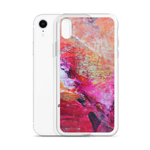 Artsy Heart IPHONE CASE for iPhones printed with Pink Orange Abstract Art