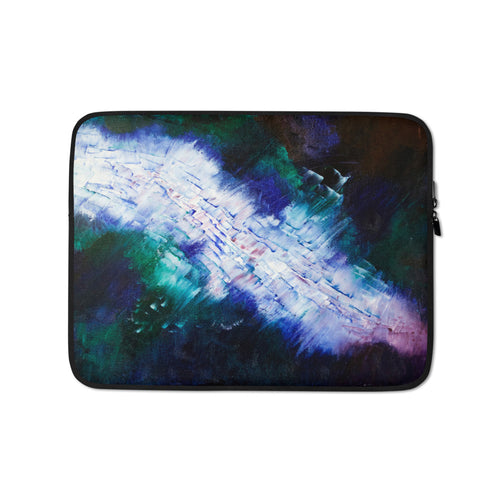 Cool Blue Green LAPTOP SLEEVE Cover Powerful Abstract Art