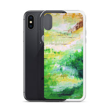 Colorful Green IPHONE CASE Painting Artsy Abstract Style