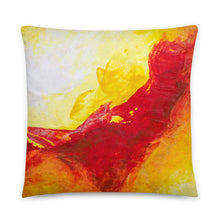 Bold Accent THROW PILLOW - Yellow Red Abstract
