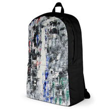 Black and White BACKPACK Unique Abstract Design