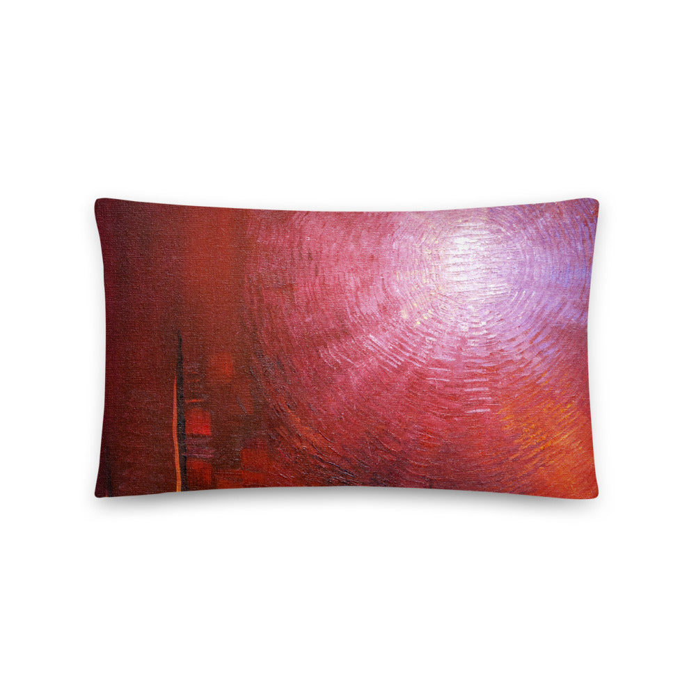 Red THROW PILLOW Modern Abstract Style