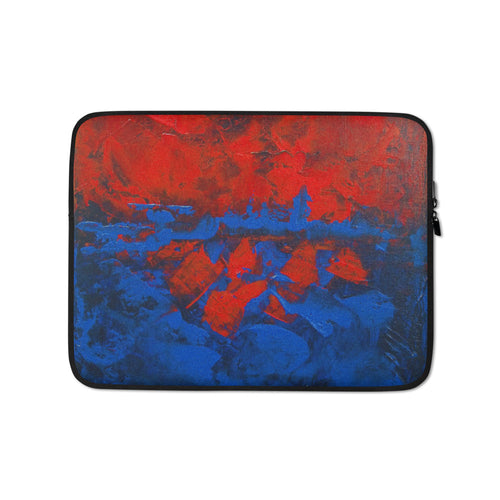 Red Blue LAPTOP SLEEVE Protection Abstract Art Design