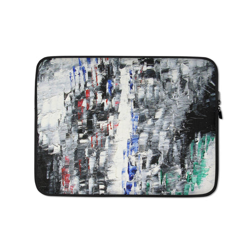 Black and White LAPTOP Cover SLEEVE Cool Abstract Style