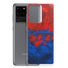 Blue Red PHONE CASE Cover for Samsung Galaxy Phones Abstract Design