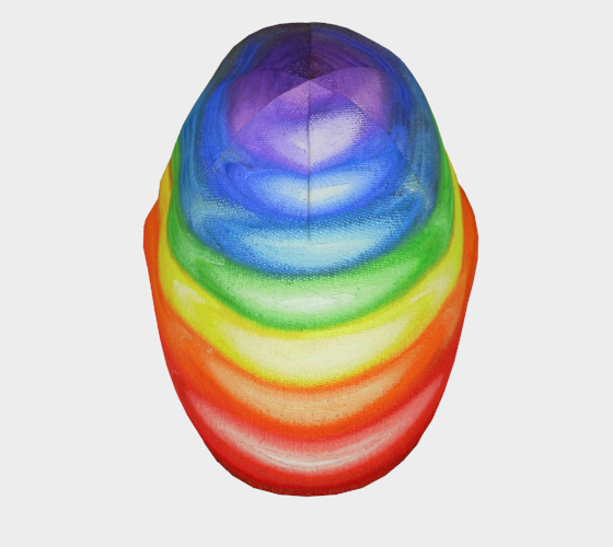 7 CHAKRAS - Beanie Rainbow Colors 1034