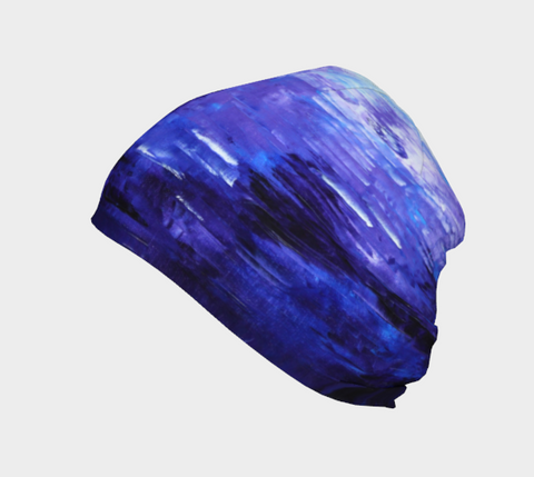 Abstract Indigo Blue Beanie #1022