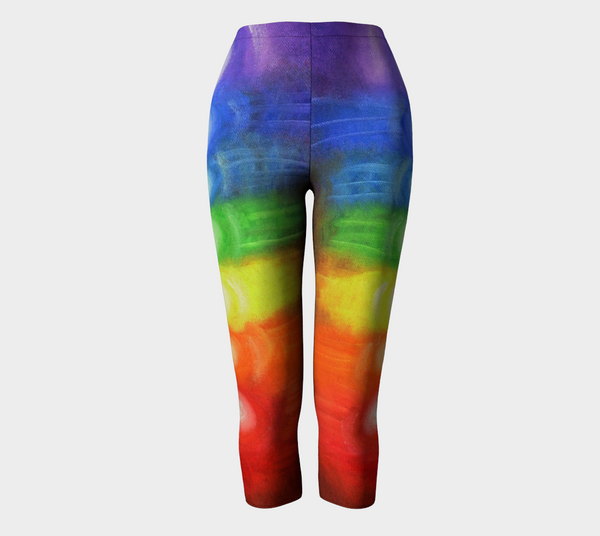 7 CHAKRAS - Capris Rainbow Colors 1034
