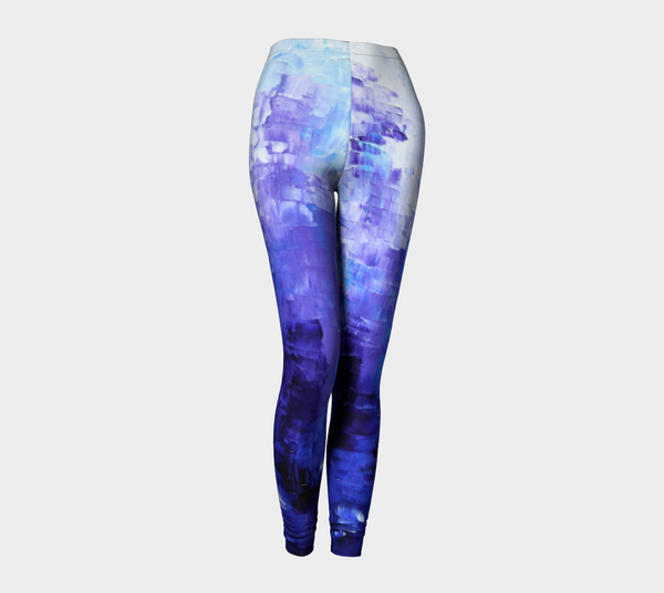 Abstract Indigo Blue Leggings #1022