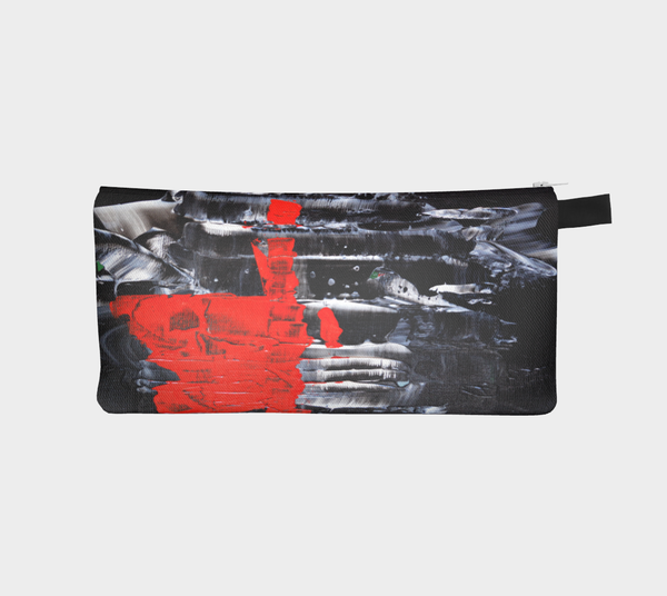Abstract Red Black White Pencil Case 1069
